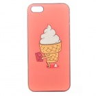 Peking Opera Cute Ice-cream Pattern PC Protective Back Case for IPHONE 5 / 5S - Orange