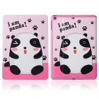 DF-008 Cute Panda Pattern Flip Open PU Leather + Plastic Case w/ Stand / Auto-Sleep for IPAD AIR