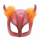 SYVIO Stylish Beauty Cow Face Mask for Halloween Costume / Cosplay - Red
