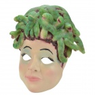 SYVIO Snake Hair Girl Mask for Costume Party / Halloween - Green + Skin Color