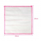 SQ-56 Cotton Yarn Kitchen Oil Stain Removing Dish Cloth / Towel - Pink + White