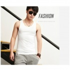 Men's Fashionable Stretch Cotton Vest - White (Size M)