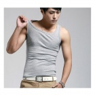 Men's Fashionable Stretch Cotton Vest - Grey (Size M)