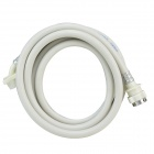 B1JX Self-washing Machine PVC Inlet Pipe - White + Silvery Grey (2.8m)