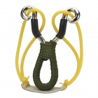 Outdoor Recreation Zinc Alloy Handle Slingshot w/ Steel Beads - Silvery White + Green