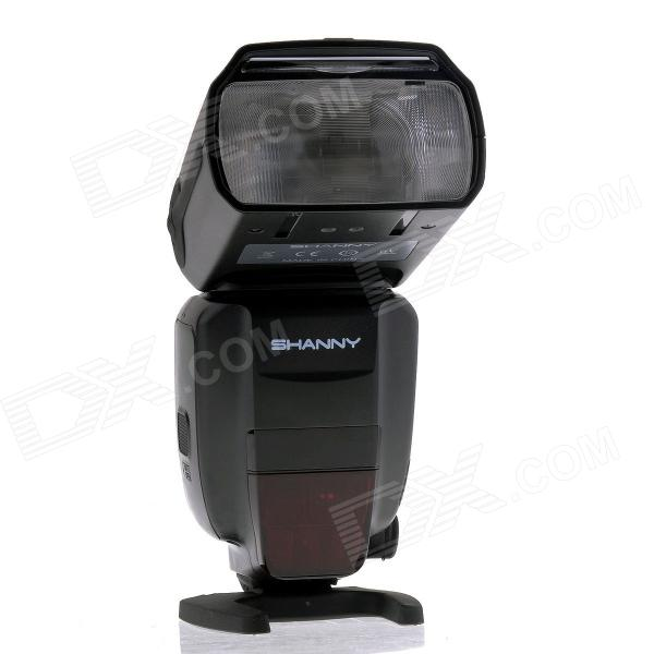 SHANNY SN600S 2.2 LCD 1/8000s High-speed Sync E-TTL/i-TTL Flash Speedlite - Black spash sl 685c gn60 wireless master slave flash light ttl speedlite for nikon lcd screen cameras flash adjustable fill light