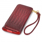 "Universal Alligator Grain Wallet Style PU Case w / Korttipaikka iPhone / 5 ""matkapuhelimesta - Red"