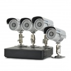 YanSe P2P HDMI 4-CH 500G 4x700TVL Waterproof IR Cameras CCTV Security System for PAL Country