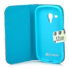 IKKI Patterned Protective PU Case w/ Stand + Card Slot for Samsung Galaxy Trend Duos S7562 / S7560