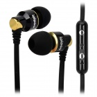 ipipoo ip-A400Hi 3.5mm In-Ear Earphone w/ Microphone - Black + Golden
