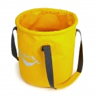 ALOCS AC-Z02 Outdoor Car Washing / Fishing Folding PVC Bucket / Water Pail - Yellow (11L)