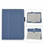 "AiSMei Flip-Open Auto Sleep PU Case w/ Stand + Card Slot + Grip for 10.5"" Samsung Tab S T800 - Blue"