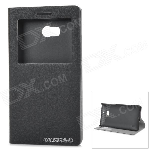 Protective Flip-open PU Leather Case for Nokia 930 - Black