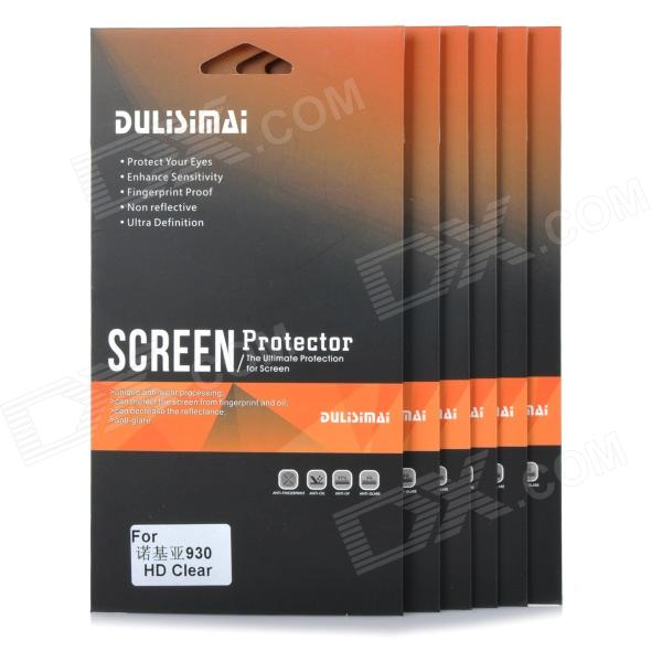 Protectora transparente PET Screen Protector Film para Nokia 930 (6 PCS)