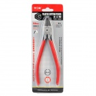 TGK-8222 Carbon Steel Cable Cutting Diagonal Pliers - Red + Silver