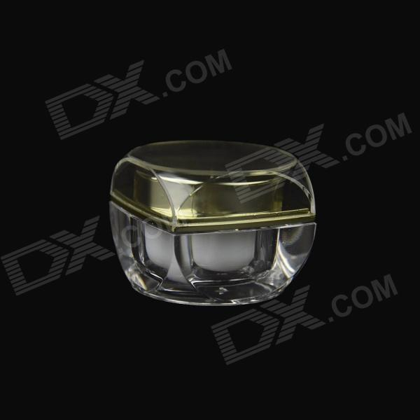 High-grade Acrylic Cream Empty Bottle - Golden + Transparent (10g)