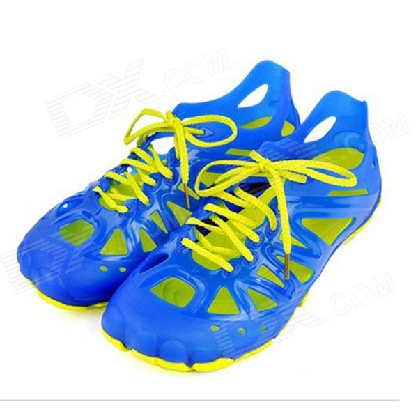 Men's Breathable Casual Rubber + TPU Chalaza Sandal - Blue + Yellow (EU Size 43)