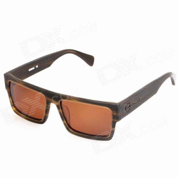 OREKA Cellulose Acetate Frame Rein Lens UV400 Polarized Sunglasses - Brown retro women sunglasses polarized driving sun glasses with pc metal hinge shades uv400 protection gafas de sol mujer 4 colors