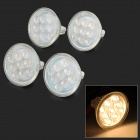 MR16 3W 300lm 3000K 9-2835 SMD LED Warm White Light Bulb w/ Dustproof Cover (8~24V / 4 PCS)