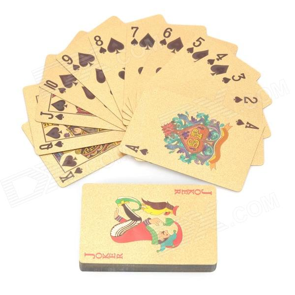 Luxurious euro pattern table games poker cards - golden...