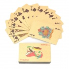 Luxurious Euro Pattern Table Games Poker Cards - Golden