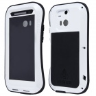 Lovemei AL01 Thin Waist Upgraded Version Waterproof Aluminum Alloy Back Case for HTC ONE M8 - White