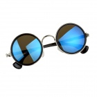 Fashion Stainless Steel Frame PC Lens UV400 Protection Sunglasses - Black + Silver