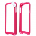 Fashion Protective PC Bumper Frame Case w/ Bowknot for Samsung Galaxy S5 I9600 - Deep Pink + Black