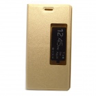 Smart Sleep Flip-open PU Leather Case Cover w/ Stand for HuaWei Ascend P7 - Golden