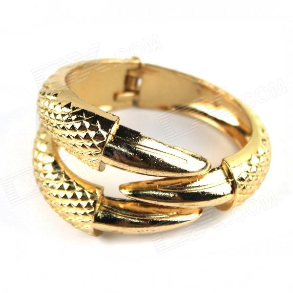 Cool Punk Style Zinc Alloy Bracelet - Golden fashion talons style zinc alloy bracelet golden