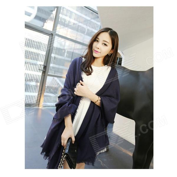 Fashionable Ultra Long Cashmere Scarf Shawl - Dark Blue