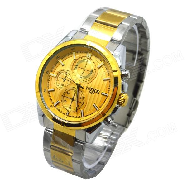 MIKE 8825 Men's Business Casual Analog Quartz Wrist Watch - Golden + Silver