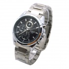 MIKE 8825 Men's Business Casual Analog Quartz Wrist Watch - Silvery White + Black