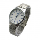 MIKE 8219 Men's Business Casual Analog Quartz Wrist Watch - Silver + White