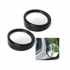 Blind Area Free 360 Degree Wide Field of View Lens Mirror for Car - Black (2 PCS)