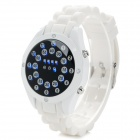 HZ-461 Fashionable LED Blue Backlight Silicone Band Digital Wrist Watch - Black + White (2 x CR2016)