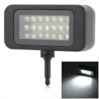 Professional Universal 15lm 5200K 21-LED Photograph Light - Black