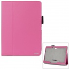 "AiSMei Protective PU Fall w / Stand / Card Slots für Samsung Galaxy Tab 10.5 S ""T800 - Deep Pink"