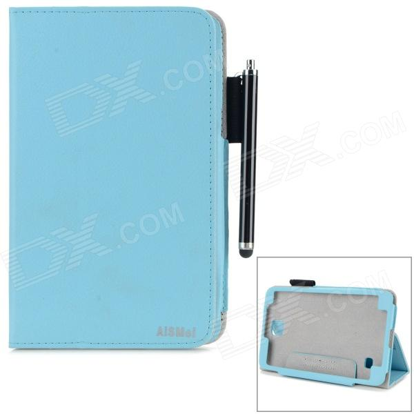 AiSMei Protective PU Case w/ Stand / Card Slots for Samsung Galaxy Tab 4 7