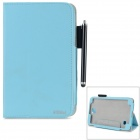 "AiSMei Protective PU Case w/ Stand / Card Slots for Samsung Galaxy Tab 4 7"" T230 - Sky Blue"