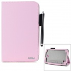 "AiSMei Protective PU Case w/ Stand / Card Slots for Samsung Galaxy Tab 4 7"" T230 - Light Pink"