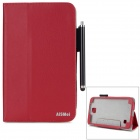 "AiSMei Protective PU Fall w / Stand / Card Slots für Samsung Galaxy Tab 7 4 ""T230 - Red"