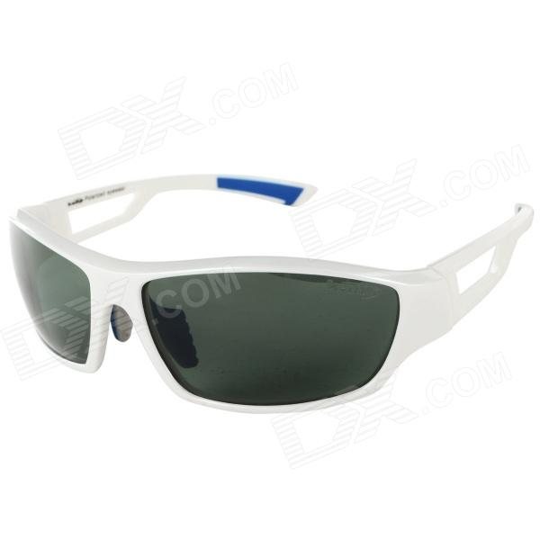 KALLO 99357 Outdoor Sports UV400 Protection TR90 Frame Resin Lens Polarized Sunglasses - White cd various artists the legacy of electronic funk