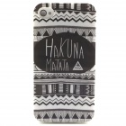 Hukuna Matata Tribal Pattern TPU Soft Back Case for IPHONE 5 / 5S - Black + White
