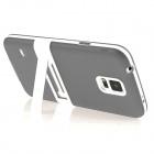 ENKAY Protective TPU Case w/ Stand for Samsung Galaxy S5 Mini G800 - Grey