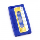 PANNOVO Unique Protective Retro Cassette Tape Silicon Back Case for IPHONE 5 / 5S - Navy blue