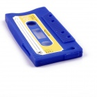 PANNOVO unique de protection Retro Cassette Tape Silicon Case pour iPhone 5 / 5S - bleu marine