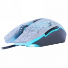 Dare-u Wrangler II Upgrade Edition USB Wired Adjustable DPI Professional Gaming Mouse - White