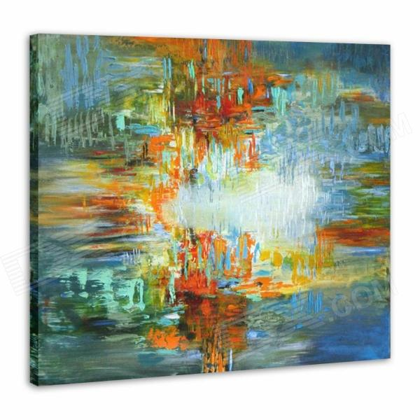 Iarts Hand-painted Abstract Color Composition Oil Painting - Red (60 x 60cm) 11167 phoenix malaysia airlines jubli 50 emas 1 400 b777 200er commercial jetliners plane model hobby