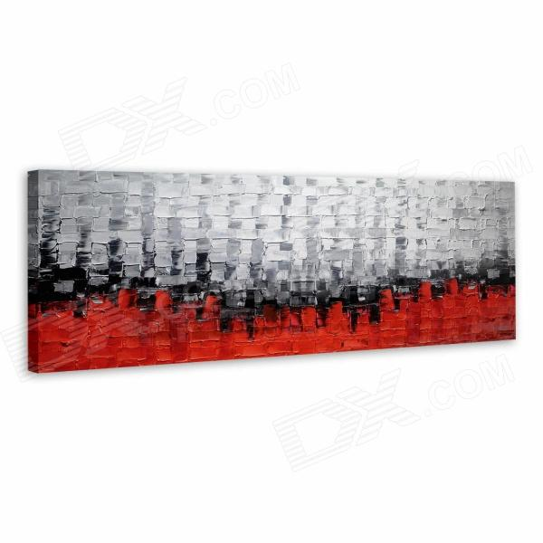 Iarts Hand-painted Abstract Style Oil Painting - Red + White + Multi-Color (90 x 45cm)